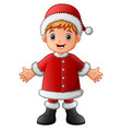 cartoon boy wearing costume vector image vector image