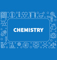 chemistry line horizontal frame with vector image vector image