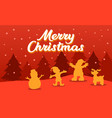 christmas greeting silhouette vector image vector image