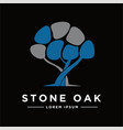 concept stone houses and trees logo icon vector image vector image