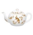 decorative porcelain teapot for tea se vector image