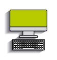 desktop computer design vector image vector image