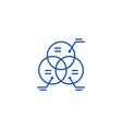 diagram marketingcircle parts line icon concept vector image vector image
