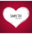 Doodle Heart on Red Background vector image vector image