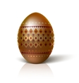 Easter egg with multi-colored geometric ornament vector image vector image