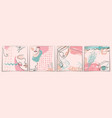 fashion beauty modern background pastel colors vector image vector image