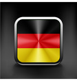 Flag of Germany as round glossy icon Button vector image vector image