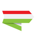 flag of hungary on a label vector image vector image