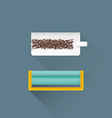 flat rolling tobacco concept cigarette machine vector image vector image