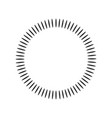 geometric circle element made of radiating shapes vector image vector image