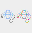 global medical service mosaic icon of vector image vector image