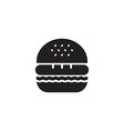 Hamburger Icon Black vector image vector image