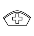 hat uniform nurse healthcare medical and hospital vector image