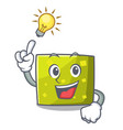 have an idea square mascot cartoon style vector image