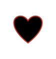 heart black of red polka sign vector image vector image