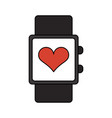 heart rate wrist monitor icon image vector image vector image