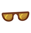 hipster glasses icon cartoon style vector image vector image