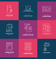 house appliances icons vector image