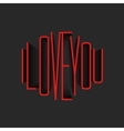 I Love You lettering red monogram poster mockup vector image vector image