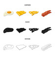 isolated object of burger and sandwich symbol set vector image vector image