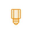 lamp led bulbs energy electricity light yellow vector image