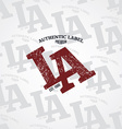 los angeles varsity theme vector image vector image
