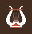 lure flat icon folk music instrument vector image vector image