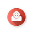 maps app red flat design long shadow glyph icon vector image