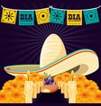 mexican hat of day death vector image vector image