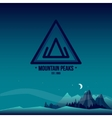 Mountain Peaks Logo and Landscape vector image