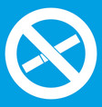 no smoking sign icon white vector image vector image