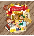 Oktoberfest party flyer vector image vector image