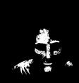 Old Man in Shadows vector image vector image