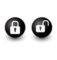 padlock locked and unlocked lock web circle vector image