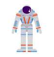 pioneering astronaut in a spacesuit on a white vector image