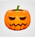 pumpkin for halloween on white background vector image vector image