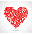 Red sketch heart design vector image
