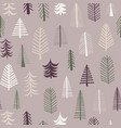 seamless repeat christmas tree pattern tile purple vector image vector image