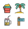 set activities in the summer vacation season vector image vector image