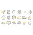 set business icons such as article copyright vector image vector image
