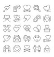 set of love concept icons or logo elements in vector image vector image
