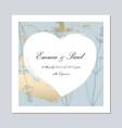 set trendy romantic elegant pastel blue gold vector image vector image