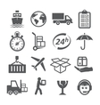 Shipping and Logistics Icons vector image