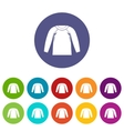 Sports jacket set icons vector image vector image