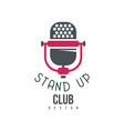 stand up club design comedy show sign with retro vector image vector image