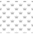 steel crown pattern seamless vector image vector image