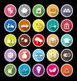 Sufficient economy flat icons with long shadow vector image vector image