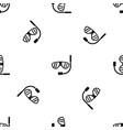 swimming mask pattern seamless black vector image