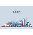 Sydney Australia City Skyline Background vector image