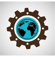 symbol environment gear global vector image vector image